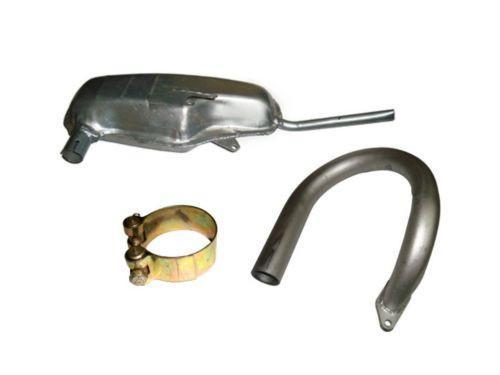 RARE LAMBRETTA GP 150 COMPLETE EXHAUST ASSEMBLY - SILVER FINSIH @ ROYAL SPARES AVAILABLE  ONLINE AT CLASSICSPAREPARTS