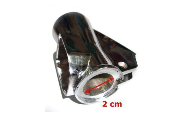 BRAND NEW HQ LAMBRETTA SIL CHROMED LIGHT SWITCH HOUSING GP, LI3 @ ROYAL SPARES AVAILABLE  ONLINE AT CLASSICSPAREPARTS