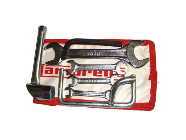 LAMBRETTA TOOL KIT COMPLETE SET (7) PIECE WITH POUCH @ ROYAL SPARES AVAILABLE  ONLINE AT CLASSICSPAREPARTS