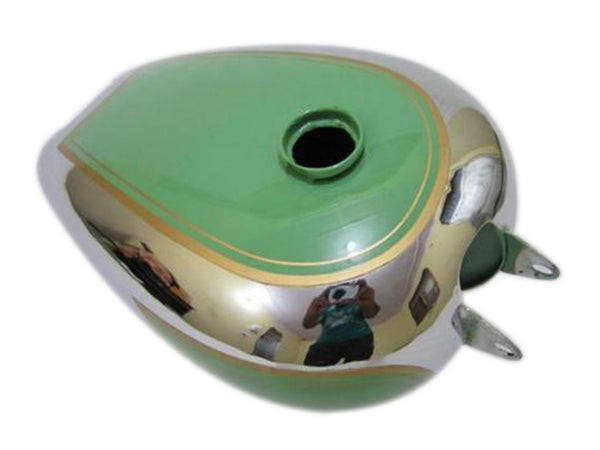 Best Chrome Petrol Tank Green Painted Fits BSA B31 Motorcycle Models available at Online at ClassicSpareParts