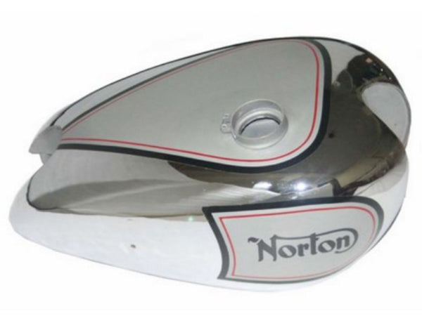 Chromed Petrol Tank Silver Painted Fits Norton 16H ES2 Motorcycles available at Online at ClassicSpareParts