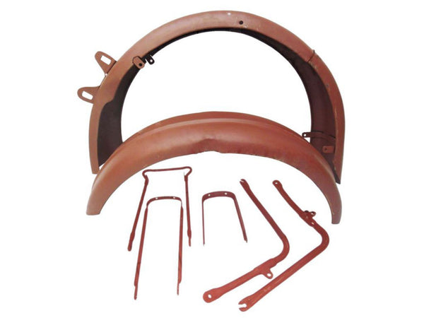 Front Rear Bare Metal Mudguard Set + Stays Fits B31 B33 BSA A10 A7 Plunger Old Model available at Online at ClassicSpareParts