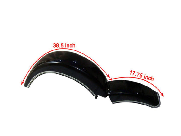 Rear Mudguard/Fender Black Painted Fits Vintage BMW R71 Models available at Online at ClassicSpareParts