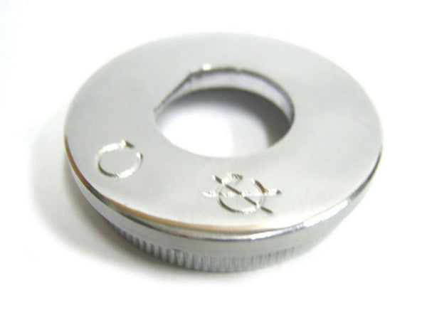 BRAND NEW ROYAL ENFIELD CHROMED IGNITION SWITCH PLATE NEW #500809 AVAILABLE  AT CLASSIC SPARE PARTS