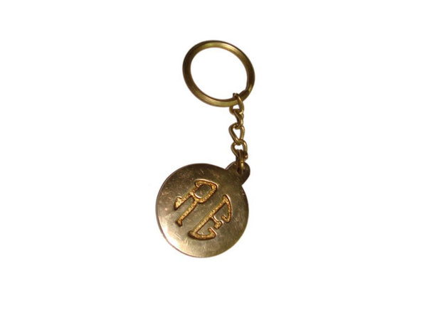UNIQUE CUSTOM MADE ROYAL ENFIELD BRASS KEYCHAIN WITH RE LOGOS AVAILABLE AT AT CLASSIC SPARE PARTS