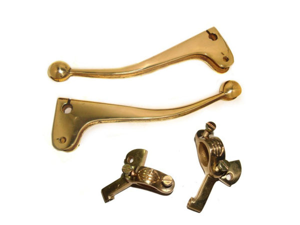 BRASS EARLY 1950s BRAKE & CLUTCH LEVERS BALL END-BRACKETS FOR 7/8 HANDLE AVAILABLE AT AT CLASSIC SPARE PARTS