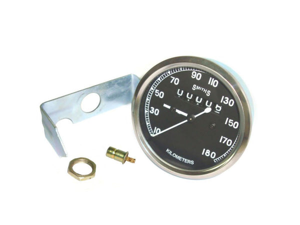 CLASSIC SMITHS SPEEDO SPEED 0-180K M/HR -ROYAL ENFIELD, BSA, NORTON, AJS AVAILABLE AT AT CLASSIC SPARE PARTS