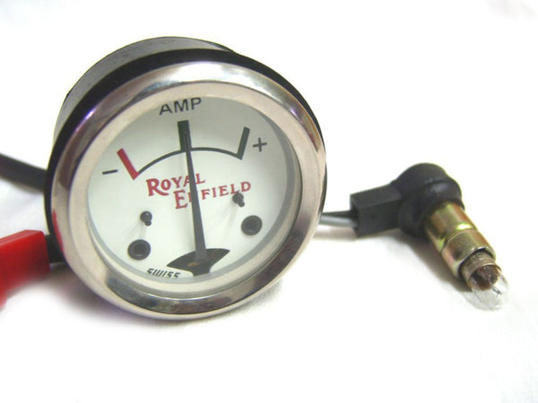 ROYAL ENFIELD BRAND NEW WHITE FACE 8 AMPERE AMMETER AVAILABLE AT at Classic Spare Parts