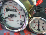 BEST QUALITY WHITE FACE SPEEDO 0-160 AMMETER FOR CLASSIC ROYAL ENFIELD BULLET AVAILABLE AT at Classic Spare Parts