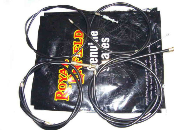ROYAL ENFIELD 350CC AND 500CC EXTRA LONG COMPLETE CONTROL CABLE KIT 4 SPEED AVAILABLE AT at Classic Spare Parts