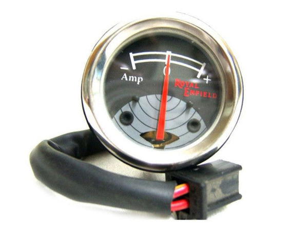 VINTAGE ROYAL ENFIELD BLACK GREY DIAL AMMETER BRAND NEW 8 AMP. AVAILABLE AT at Classic Spare Parts