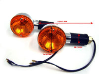 ROYAL ENFIELD PAIR OF ORANGE LENS INDICATORS/TRAFFICATORS LH/RH ELECTRA BIKE AVAILABLE AT at Classic Spare Parts