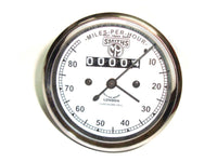 NEW CLASSIC SMITHS REPLICA WHITE FACE SPEEDOMETER 0-80 MPH BRAND NEW AVAILABLE AT at Classic Spare Parts
