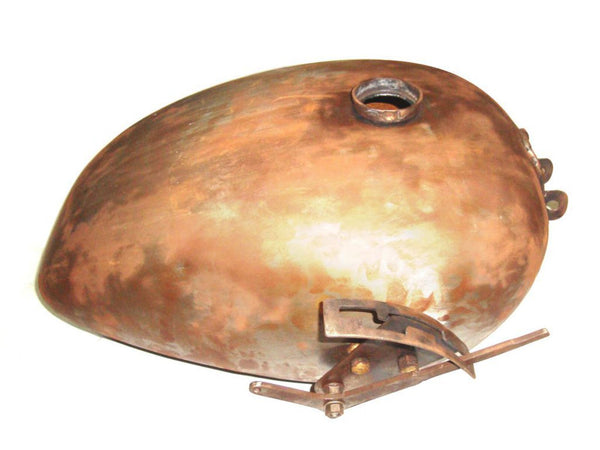 ROYAL ENFIELD GAS TANK+JOCKEY SHIFTER / HAND GEAR BARE METTAL AVAILABLE AT at Classic Spare Parts