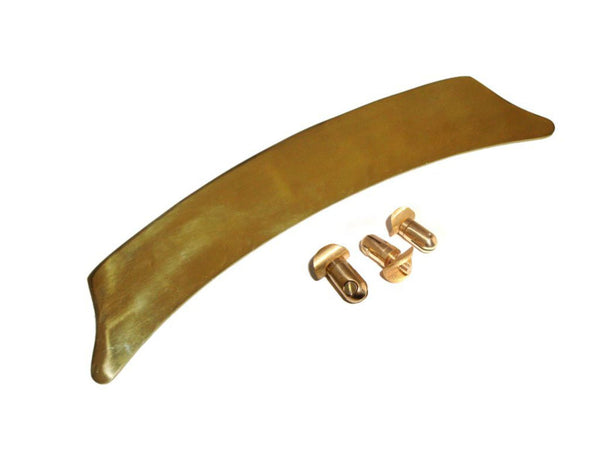 CUSTOMIZED UNIVERSAL BRASS COMPLETE FRONT NUMBER PLATE WITH 3 FIXING POSTS AVAILABLE AT at Classic Spare Parts