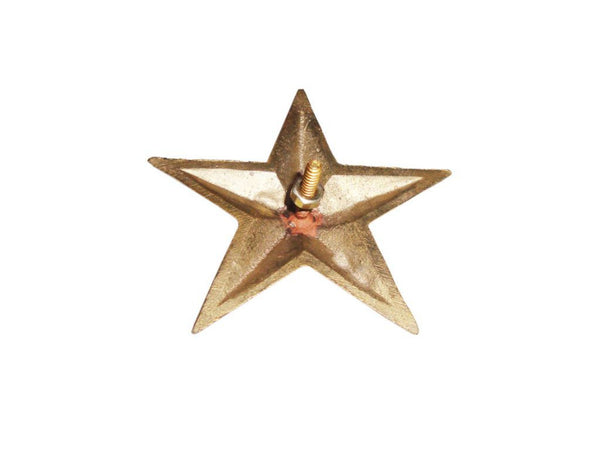 PAIR OF NEW BRASS CUSTOMIZED STAR DECAL WITH FIXING 3.75 INCHES AVAILABLE AT at Classic Spare Parts