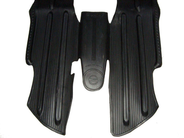 LAMBRETTA GP & SERIES 3 BLACK RUBBER FLOOR MAT.PROTECTS LEG WELL & REAR RUNNERS AVAILABLE AT at Classic Spare Parts
