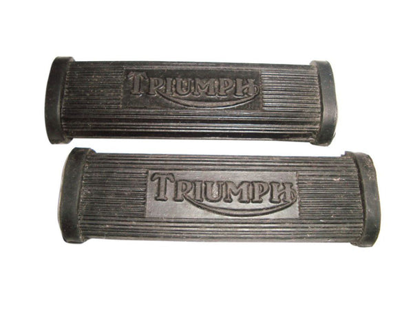 VINTAGE TRIUMPH FOOT REST FOOT PEG RUBBER PILLION FOOTREST SET AVAILABLE AT at Classic Spare Parts