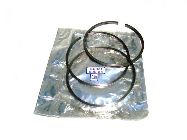 "NEW ROYAL ENFIELD BULLET PISTON RING SET 500CC OVER SIZE .030"" AVAILABLE AT at Classic Spare Parts"