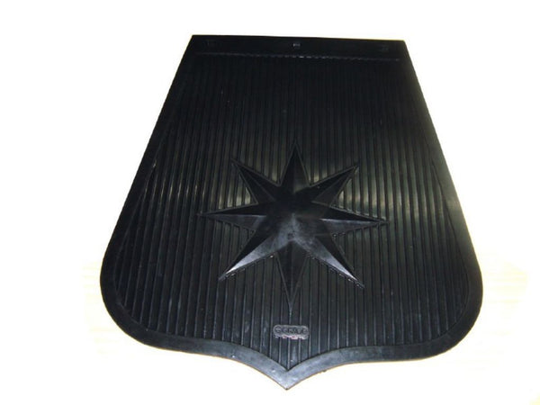 UNIVERSAL MOTORCYCLE MEDIUM MUDFLAP MUD FLAP RUBBER STAR LOGO AVAILABLE AT at Classic Spare Parts