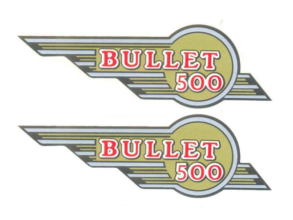 Toolbox Winged 500 Sticker Kit Fits Genuine Royal Enfield # available at Online at classicspareparts