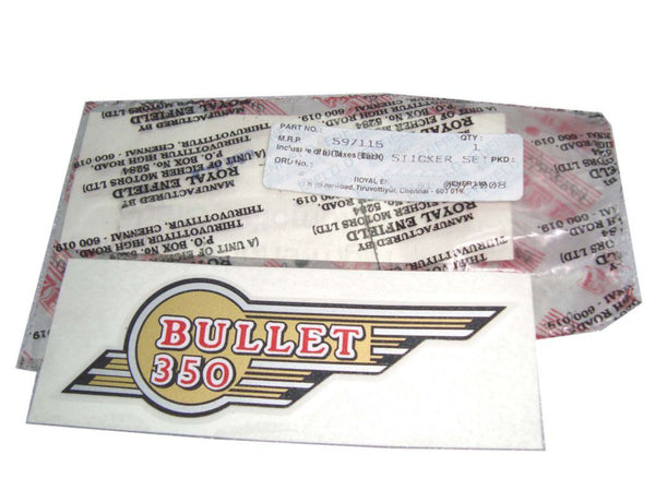 Toolbox Winged 350 Sticker Kit # 597115 Fits  Royal Enfield  Bullets. available at Online at classicspareparts