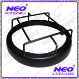 HIGH QUALITY HEADLIGHT GRILL MILD STEEL BLACK PAINTED FOR ALL VINTAGE MOTORBIKES AVAILABLE AT CLASSIC SPARE PARTS