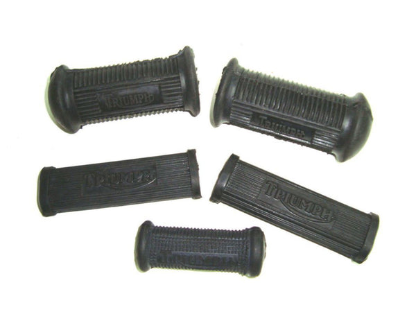 Brand New 4 Pc Footrest Rubbers +1 Gear Lever Rubber Fits Vintage Triumph available at Online at classicspareparts