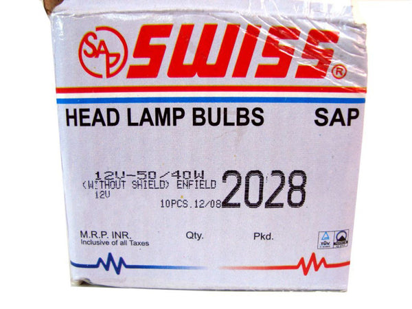 GOOD QUALITY BPF HEADLAMP BULB 12v -50/40w WITHOUT SHIELD TRADE PACK BRAND NEW AVAILABLE AT CLASSIC SPARE PARTS