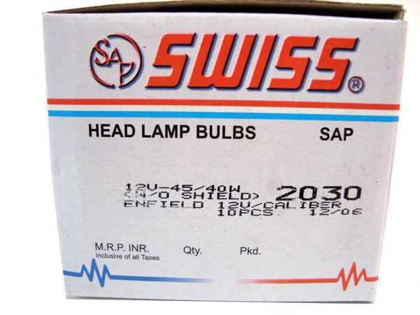 SUPER QUALITY NEW ASYMMETRIC HEADLAMP BULB 12 VOLT -45/40 WATTS W/O SHIELD P45T AVAILABLE AT CLASSIC SPARE PARTS
