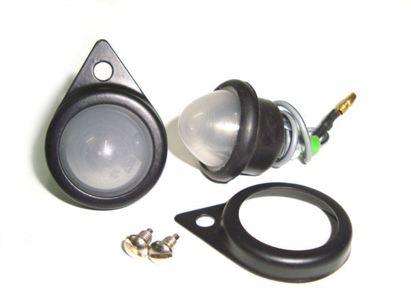 HQ ROYAL ENFIELD 12 VOLT NEW FROSTED PILOT LAMPS ASSEMBLY BLACK RIMS -144372 AVAILABLE AT CLASSIC SPARE PARTS