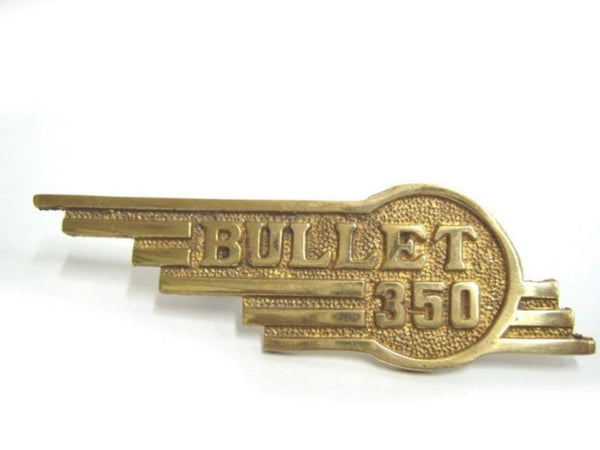 NEW PAIR ROYAL ENFIELD BULLET PURE BRASS 350CC TOOL BOX BADGES available at Online at classicspareparts