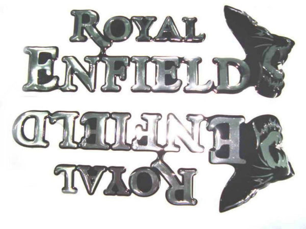 ROYAL ENFIELD PETROL TANK AND TOOL BOX STICKER SET LATEST - VINTAGE MOTORCYCLE