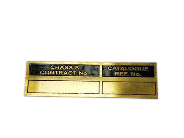 Chassis Contract Number Brass Made Data Plate Unit Fits Ford Mb Gpw Jeep available at Online at classicspareparts
