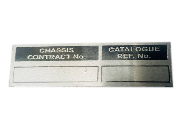 Hi Quality Data Plate Chassis Contract Number Unit - Ford Mb Gpw Jeep available at Online at classicspareparts