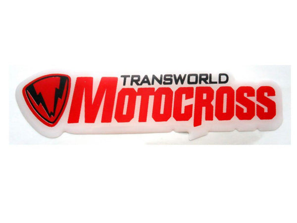 Brand New Self Adhesive Transworld Motocross Vinyl Stickers Fits Motorcycles available at Online at classicspareparts