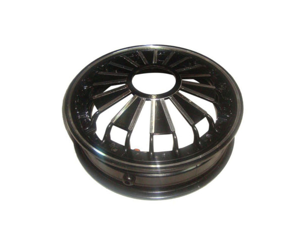 HIGH QUALITY VESPA AND LML SCOOTERS 10 INCH BLACK DOUBLE ALU WHEEL RIM AVAILABLE AT AT CLASSIC SPARE PARTS