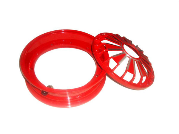"BRAND NEW VESPA PX /LML SCOOTERS 2 X 10"" RED DOUBLE ALUMINUM TUBELESS WHEEL RIM AVAILABLE AT AT CLASSIC SPARE PARTS"