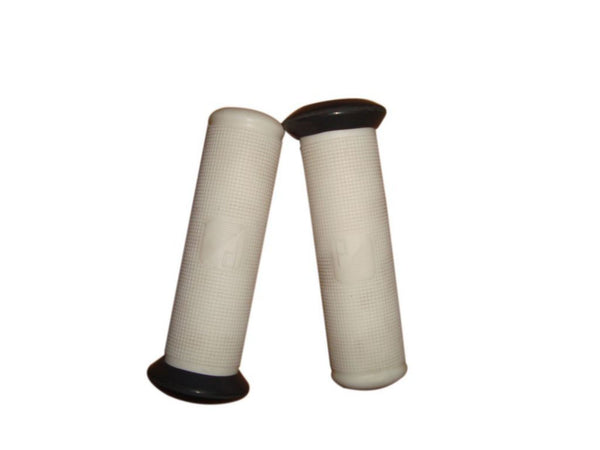 Brand New White Colour Handlebar Grips Fits Classic Vespa Scooter