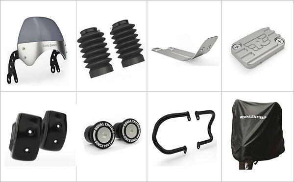 GENUINE NEO ROYAL ENFIELD INTERCEPTOR 650 ACCESSORIES ACCESSORY COMBO PACK 8 PCS