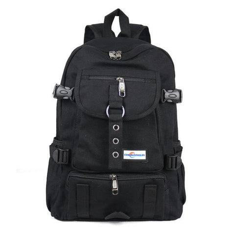 Charcoal - Casual Bag, Male Backpack, School Bag, Canvas Bag, Backpacks for Men - IntentionalGravity