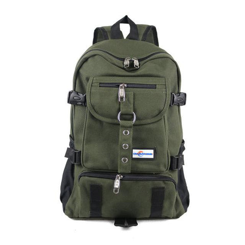 Military Green - Casual Bag, Male Backpack, School Bag, Canvas Bag, Backpacks for Men - IntentionalGravity