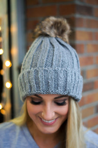 Let It Snow Beanie (Grey)
