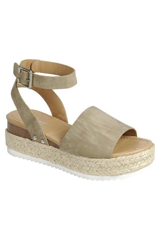 Makenzie Espadrille Sandals (Taupe)