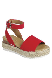 Makenzie Espadrille Sandals (Red)