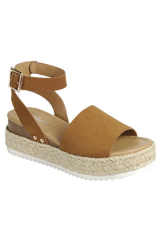 Makenzie Espadrille Sandals (Tan)