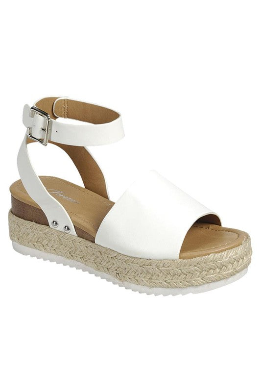 Makenzie Espadrille Sandals (White)
