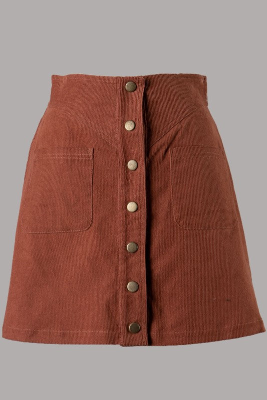 Denver Corduroy Skirt