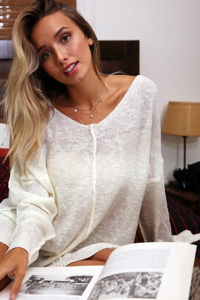 Daily Routine Knit Sweater (Ivory)