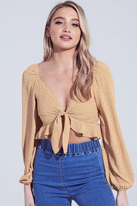 Make Her Mine Top (Mustard-Ivory)